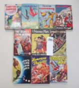 A good collection of 10 early Sci-Fi pulp magazines / books including The Human Bat,