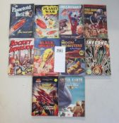 A good collection of 10 early Sci-Fi pulp magazines / books including Rocket Invasion,