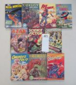 A good collection of 10 early Sci-Fi pulp magazines / books including The Metal Monster, Cataclysm,