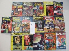 A good collection of 16 Authentic Science Fiction pulp magazines / books including Coming of