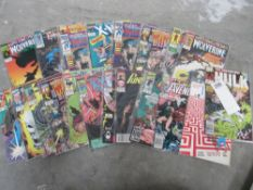 A collection of 20 1st edition comics in bags including Wolverine, Weapon X, Excalibur, Shadowcat,