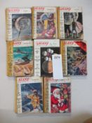 Acollection of 8 early Galaxy Science Fiction pulp magazines
