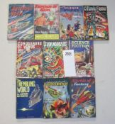A good collection of 10 early Sci-Fi pulp magazines / books including Emperor of Mars,