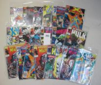 A collection of 20 1st edition comics in bags including X-Men, Hulk, Weapon X,