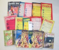 A good collection of 10 Unknown Worlds magazines and other sci-fi magazines including Science