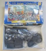 A boxed Italeri No 6104 Siege of Orleans Historic 1:72 set (set is missing solders and box worn,