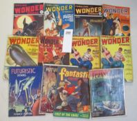 A good collection of early Sci-Fi pulp magazines including Thrilling Wonder Stories,