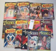 A good collection of 13 early Super Science Stories magazines