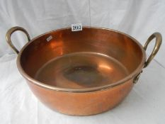An early solid copper preserving pan