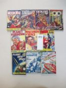 A good collection of 10 early Sci-Fi pulp magazines / books including Moon War, Planet Federation,