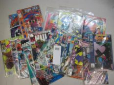 A collection of 20 1st edition comics in bags including Bat,man, Shock Therapy, Wildcards 1,