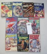 A good collection of 10 early Sci-Fi pulp magazines / books including Devils Planet, Saturn Patrol,
