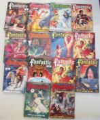 A good collection of 14 Fantastic Adventure pulp magazines
