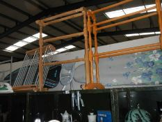 2 towel rails, clothes airer, ironing board etc.