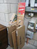 Various new DIY pine shelves (some still boxed)