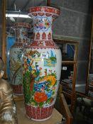 A large Chinese vase.