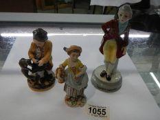 3 19th century porcelain figures.