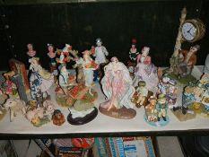 A large quantity of ornaments, figures, animals etc.