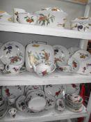 3 shelves of Royal Worcester Evesham dinnerware (good lot)