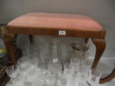 A dressing table stool