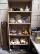 5 shelves of kitchenalia