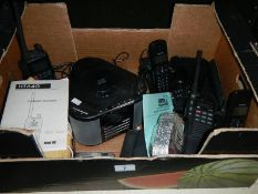 A Swiftech M.198 marine transceiver, one other, a cd player, cordless phones etc.