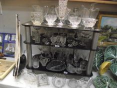 A good lot of glass including crystal