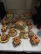 A collection of cottage ware etc.