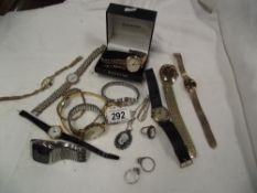 A quantity of watches including boxed Accurist & Sekonda etc.