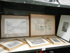 A quantity of framed prints and engravings.