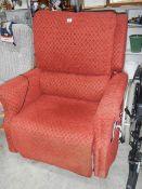 An electric reclining chair.