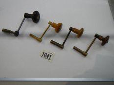 4 long case clock keys.