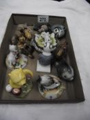 A box of miscellaneous items including Goebel & Royal Doulton Winnie The Pooh etc.
