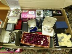 A large quantity of mixed jewellery including brooches, necklaces, bracelets etc.