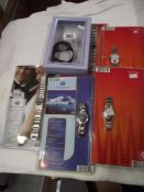 A quantity of new & used wristwatches