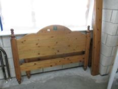 A Ducal pine double bed frame (parts missing)