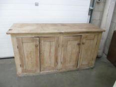 A pine 4 door kitchen sideboard / cabinet