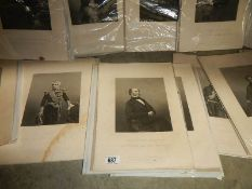 A quantity of engravings of 19th century gentlemen.
