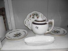 A quantity of Coalport items including a teapot
