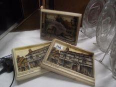 3 Lincoln Ivorex plaques