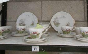 A Regency hunting pattern tea set.