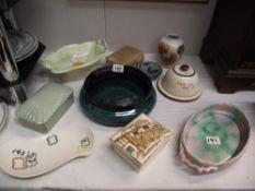 A quantity of misc. including Sylvac dish, Spode Fortuna lidded dish etc.