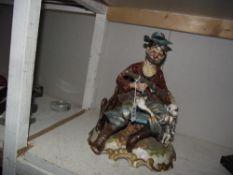 A Capodimonte hunting figure