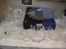 A good lot of glass including Dartington crystal bowl in box, German glass etc.