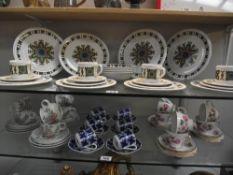 A vintage Jon Anton 24 piece dinner set and 3 other tea sets