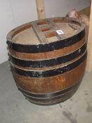 A vintage oval ships barrel