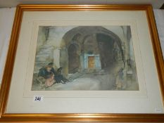 A framed and glazed W.
