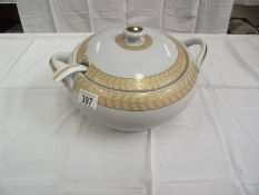 A Bavarian soup tureen and ladle