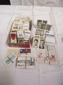 A quantity of cigarette and tea cards