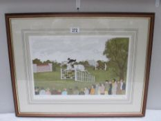 Vincent Haddelsey (1934-2010) Artist's proof limited edition lithographic print 7/34 equestrian